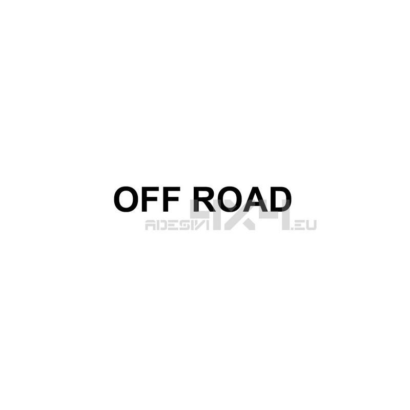 Adesivo scritta off road mod.a