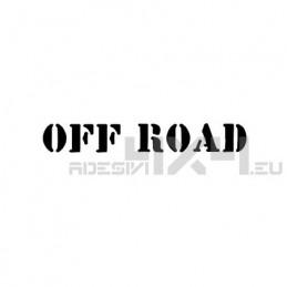 Adesivo scritta off road mod.d