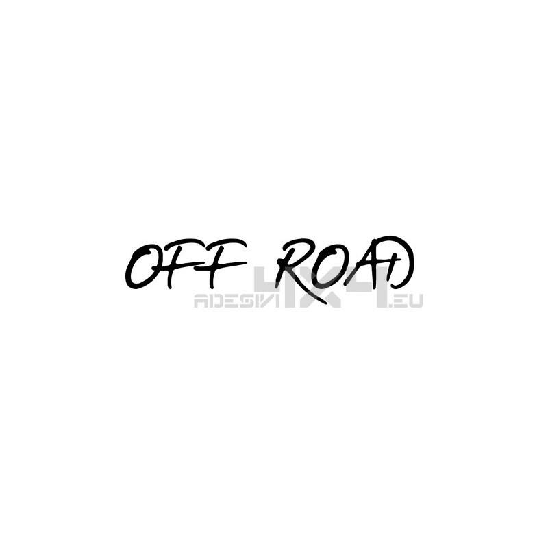 Adesivo scritta off road mod.e