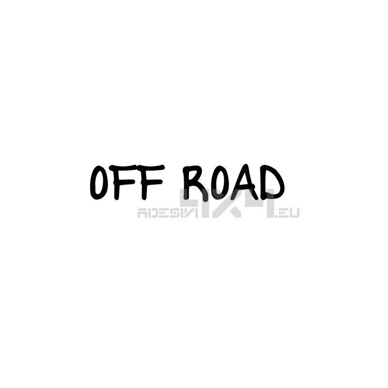 Adesivo scritta off road mod.f