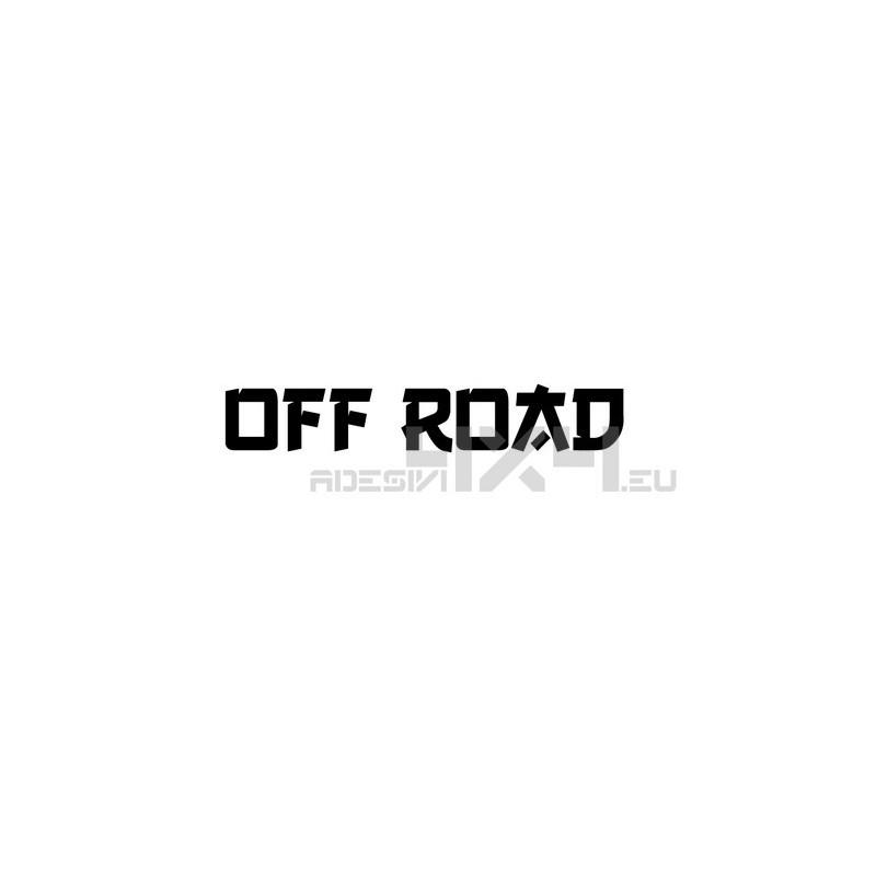Adesivo scritta off road mod.g