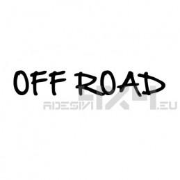 Adesivo scritta off road mod.h
