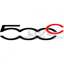 Adesivo logo fiat 500c