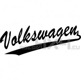 Adesivo scritta volkswagen old