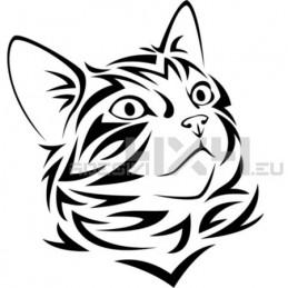 Adesivo gatto tribale mod.b