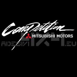 Adesivo competition mitsubishi motors
