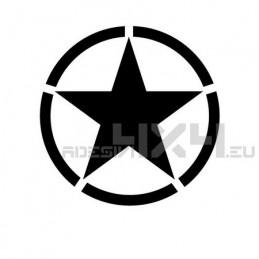 Adesivo stella jeep 15x15 cm