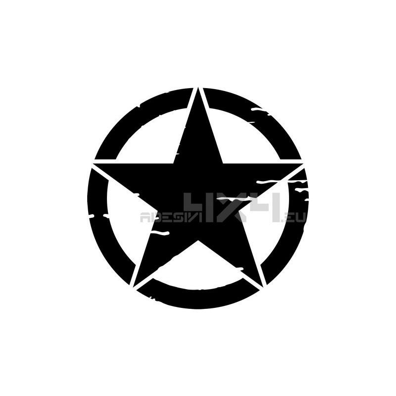 Adesivo stella US ARMY consumata 20x20cm