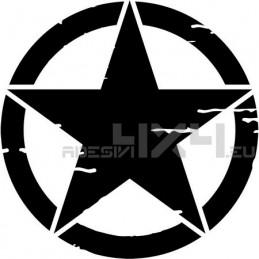 Adesivo stella US ARMY consumata 40x40cm