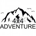Adesivo montagne 4x4 adeventure mod02