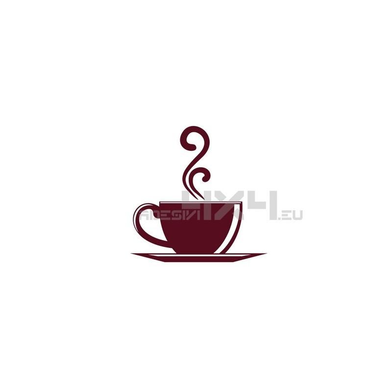 Adesivo tazzina caffe mod.a