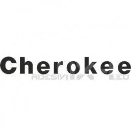 Adesivo jeep scritta cherokee